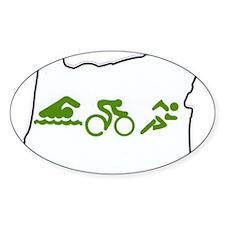 Triathlon in Oregon t-shirt a Decal