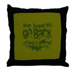 Go Back Throw Pillow