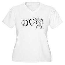 Peace, Love & Turtles T-Shirt