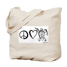 Peace, Love & Turtles Tote Bag