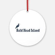 Bald Head Island NC - Beach Design Ornament (Round