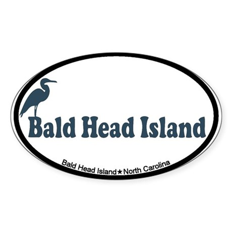 Bald Head Island NC - Beach Design Sticker (Oval)