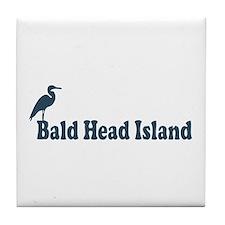 Bald Head Island NC - Beach Design Tile Coaster