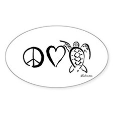 Peace, Love & Turtles Decal