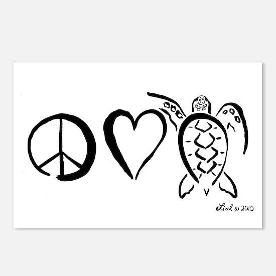 Peace, Love & Turtles Postcards (Package of 8)