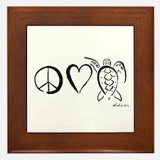 Peace, Love & Turtles Framed Tile