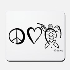 Peace, Love & Turtles Mousepad