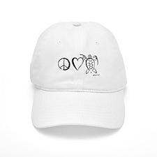 Peace, Love & Turtles Baseball Cap