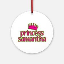 Princess Samantha Ornament (Round)