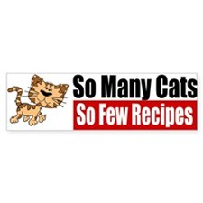 So Many Cats Bumper Bumper Sticker