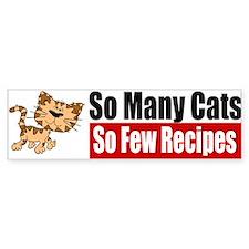 So Many Cats Bumper Sticker