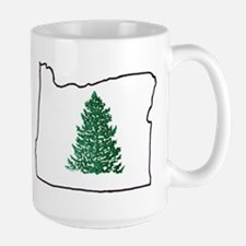Tree in Oregon Large Mug