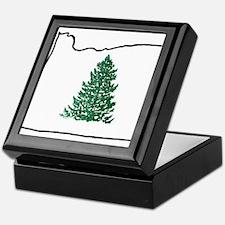 Tree in Oregon Keepsake Box