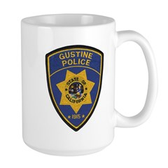 Gustine California Police Large Mug