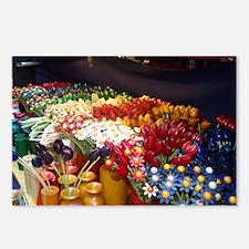 Apple Market - Handmade flowers Postcards (Package
