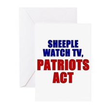Cute Patriot act Greeting Cards (Pk of 20)