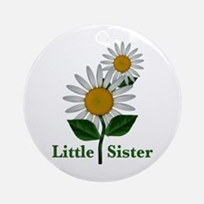Daisies Little Sister Ornament (Round)