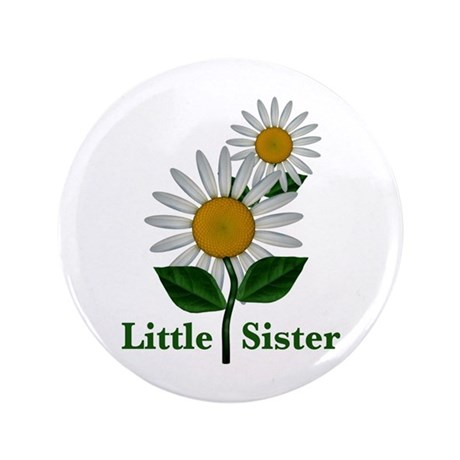 "Daisies Little Sister 3.5"" Button (100 pack)"