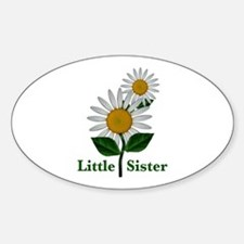 Daisies Little Sister Sticker (Oval)