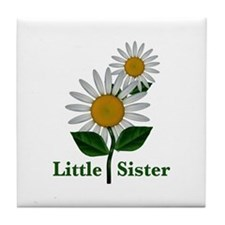 Daisies Little Sister Tile Coaster