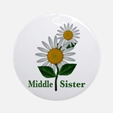 Daisies Middle Sister Ornament (Round)