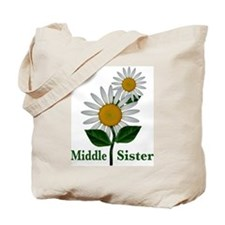 Daisies Middle Sister Tote Bag