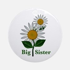 Daisies Big Sister Ornament (Round)