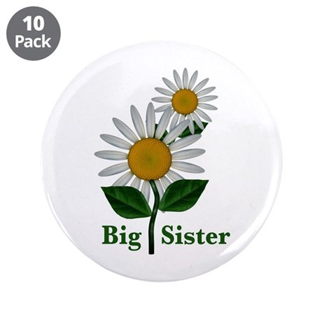 "Daisies Big Sister 3.5"" Button (10 pack)"