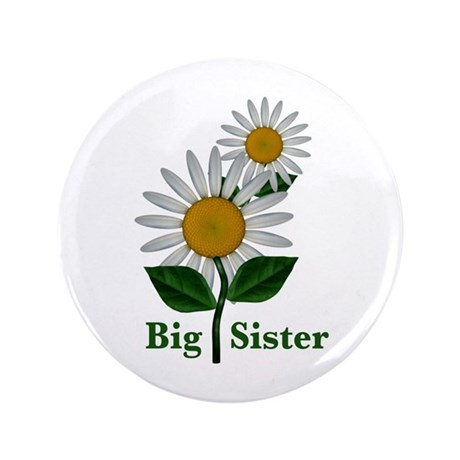 """Daisies Big Sister 3.5"""" Button (100 pack)"""