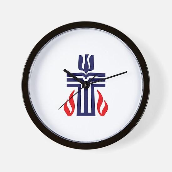 Presbyterian logo Wall Clock