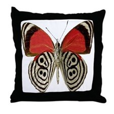BUTTERFLY RED/BLACK Throw Pillow