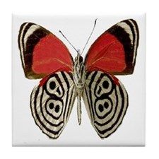 BUTTERFLY RED/BLACK Tile Coaster