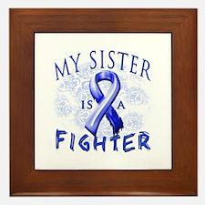 My Sister Is A Fighter Framed Tile