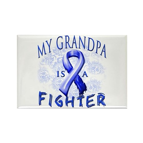 My Grandpa Is A Fighter Rectangle Magnet (100 pack