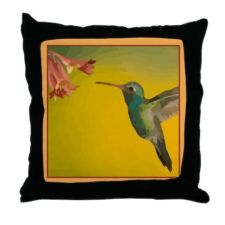 Hummingbird Pretty Pillows Throw Pillow
