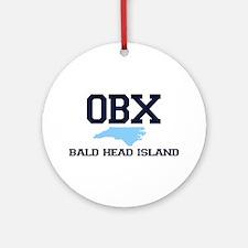 Bald Head Island NC - Map Design Ornament (Round)
