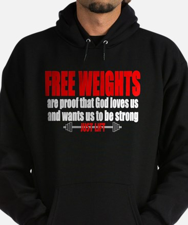 FREE WEIGHTS ARE PROOF Hoodie (dark)