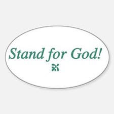 Stand for God Oval Decal