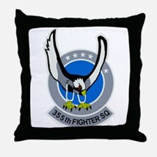 355th Fighter Squadron Throw Pillow