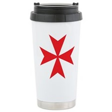 Red Maltese Cross Travel Mug