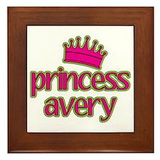 Princess Avery Framed Tile