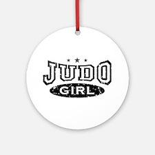 Judo Girl Ornament (Round)