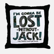 Lost Without Jack Throw Pillow