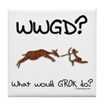 WWGD? What would GROK do? Tile Coaster