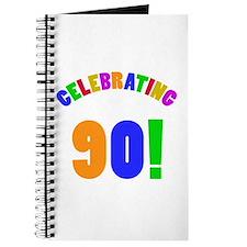 Rainbow 90th Birthday Party Journal