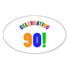 Rainbow 90th Birthday Party Decal