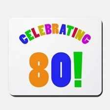 Rainbow 80th Birthday Party Mousepad
