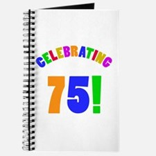 Rainbow 75th Birthday Party Journal