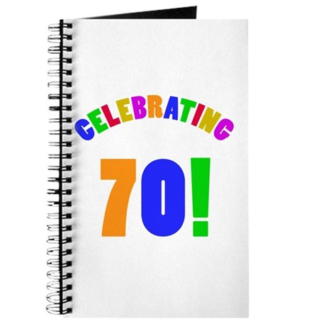 Rainbow 70th Birthday Party Journal