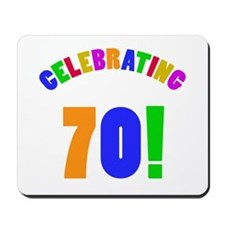 Rainbow 70th Birthday Party Mousepad